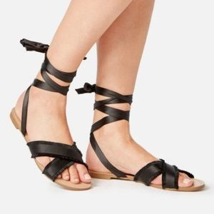 Never Worn Ribbon Tie Sandals